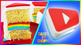 Rainbow Buttercream VIDCON Cake (How To) Mini Competition