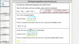 Write Inequalities And Equivalent Inequalities From Statements