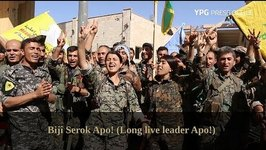 SDF Fighters Celebrate Liberation of Raqqa City From Islamic State