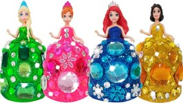 How To Make Play Doh Princess Barbie Doll Dresses For Kids