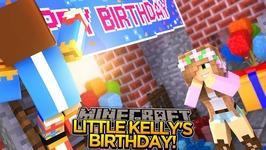 LITTLE KELLY'S SURPRISE BIRTHDAY!! - Minecraft - Little Donny Adventures