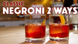 Classic Negroni Cocktail 2 Ways