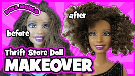 How to Curl Barbie Doll Hair Thrift Store Barbie Doll Makeover