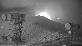 California's Whittier Fire Burns Around Camera Stationed on Santa Ynez Peak
