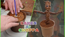 Baby Groot Cake  Guardians Of The Galaxy (How To) feat: Damielou Shavelle