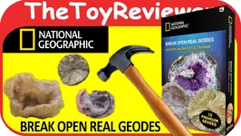 National Geographic 15 Geodes Kit How to Break Open Review Unboxing Toy Review