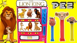 The Lion King PEZ CANDY MACHINE GAME w/ New Movie Lion King PEZ Dispensers