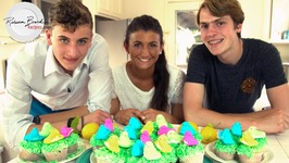 Lemon Filled Cupcakes Recipe With Peeps On Grass