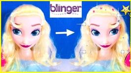 Disney Elsa Styling Head gets transformed w/ Blinger Glam Hairstyle