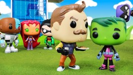 Teen Titans Go Hello Neighbor Tricks Beast Boy Into Metamorphosis Raven Saves Teen Titans