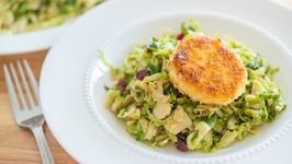 Crispy Goat Cheese And Brussels Sprout Salad