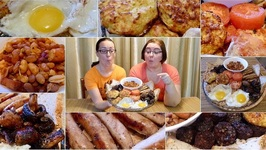 English Breakfast-Gay Family Mukbang - Eating Show