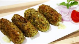 Cheesy Green Chicken Kabab - Chicken Recipe - Non Veg Starter