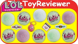 LOL Surprise Dolls Charm Fizz Ball Bath Bombs Water Sticker Unboxing Toy Review