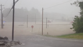 Streets, Parking Lots Under Water After Flash Flooding in Salem, Indiana