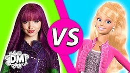 Descendants VS Barbie - Isle of the Lost Auradon and Life in the Dreamhouse