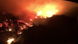 Skirball Fire Breaks Out Near Interstate 405 in Los Angeles