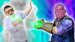 Avengers Infinity Thanos Takes Over The Playground Superhero Showdown