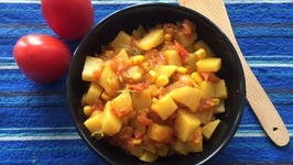 Aloo Corn Curry / Potatoes And Sweet Corn Side Dish