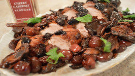 Braised Napa Valley Cherry Cabernet Pork Tenderloin , Wild Mushrooms And Sage
