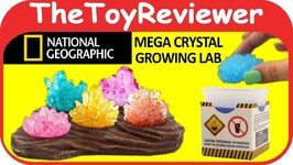 National Geographic Mega Crystal Growing Lab Grow Display Stand Unboxing Toy Review