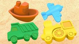 Vehicles for Kids with Sand Pit Toys- Cartoons and Learning Videos- Learn Vehicles and Colors for Kids.