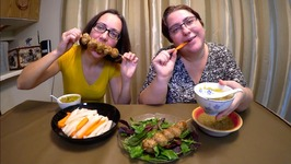 Asian Meatballs, Vietnamese Pickled Daikon And Zucchini Dip/Gay Family Mukbang- Eating Show