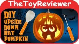DIY Upside Down Bat Pumpkin Carving Halloween Jack-o'-lantern Unboxing Toy Review