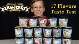 Ben And Jerrys Ice Cream Taste Test -- 17 Flavors