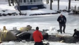 Truck Pulled from Ice on New Hampshire's Lake Winnipesaukee