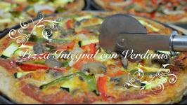 Pizza Casera Integral con Verduras thermomix / Pizza de Verduras / Pizza con Verduras