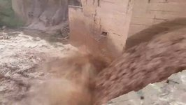 New Mexico Monsoon Turns Creek into Raging Torrent
