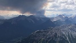Smoke Rises from Wildfire in Alberta's Kootenay National Park