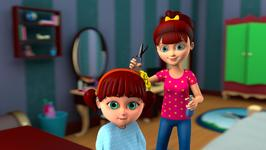 Elsa Cuts Anna's Hair- A Sailor Went To Chop Chop Chop- Children Learning Songs and Original Songs for Kids