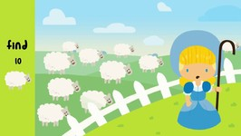 Little Bo Peep Has Lost Her Sheep - English Nursery Rhyme - Kindergarten