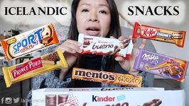 Chinese Girl Tries Icelandic Snacks MUKBANG Eating Show
