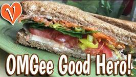 OMG Good Veggie Sandwich With Yogurt Cheese Spread