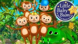 Little Baby Bum - Five Little Monkeys Swinging - Nursery Rhymes for Babies - Songs for Kids