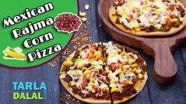 Mexican Rajma Corn Pizza