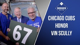Chicago Cubs Honor Dodgers announcer Vin Scully