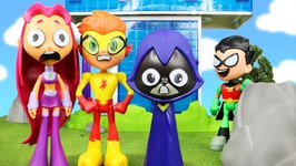 Teen Titans Go Starfire And Kid Flash Date  Raven Transforms Them Into Teen Titans Go Face Swappers