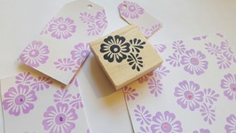 Using The Dollar Tree Flower Stamp To Create A Background