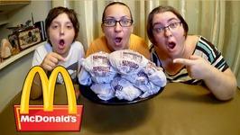 67 Cent McDonald's Hamburgers- Gay Family Mukbang -Eating Show
