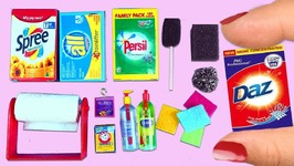 100 Real Working Miniature Cleaning Supplies - Easy Doll Crafts