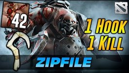 ZIP FILE Pudge 1 HOOK - 1 KILL, no luck - just skill Dota 2