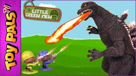 Godzilla Vs Awesome Little Green Men (Plastic Toy Army Men) Blind Boxes Surprise Toys