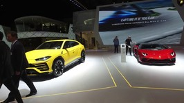 The New Lamborghini Stand at the 2018 Geneva Motor Show
