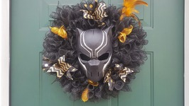 Black Panther Wreath For Bill