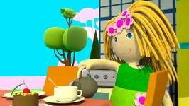 Dollhouse- Kids' Cartoon- Kitchen Furniture