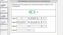 Determine The Construction Of An Equation - 4 Steps - Ex 1